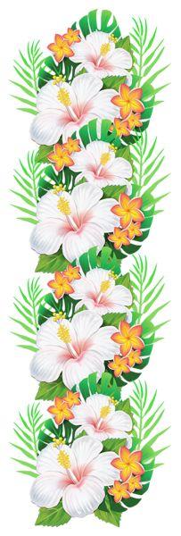 Tropical clipart green flower #6