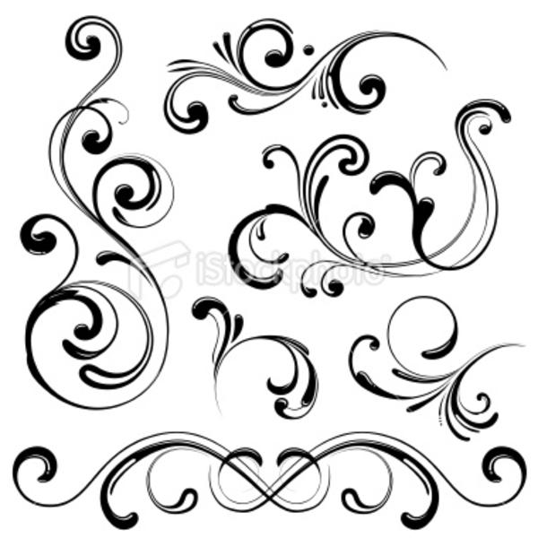 Swirl clipart cute Of Drawing/art line art line