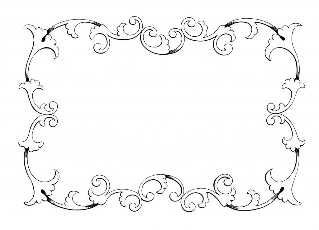 Elegance  clipart top page border Illustration border art frame decorative