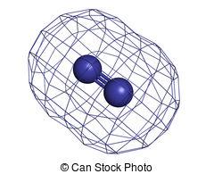 Elemental clipart graphic Elemental model  molecular Nitrogen