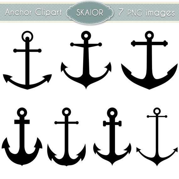 Elemental clipart nautical Anchor Digital Anchor  Clip