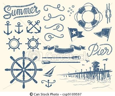 Elemental clipart nautical Vectors illustrations nautical Vintage Pinterest