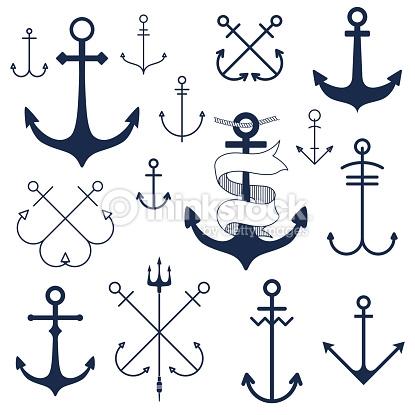Elemental clipart nautical Nautical Anchor  Clip Vector