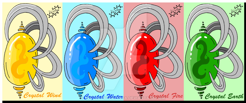 Elemental clipart the four Crystals Elemental on Four Elemental