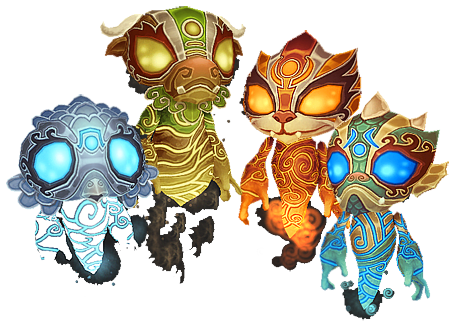 Elemental clipart the four To guide of spirits png