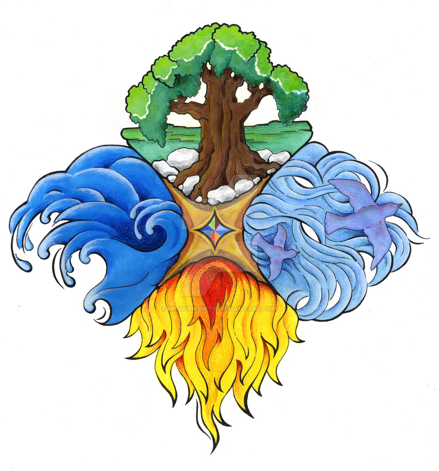 Elemental clipart the four Elements Four on elements by
