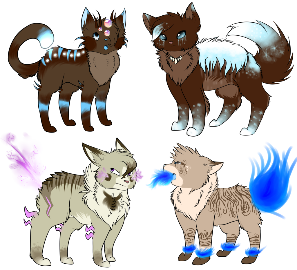 Elemental clipart the four By Adoptables Cat on DeviantArt
