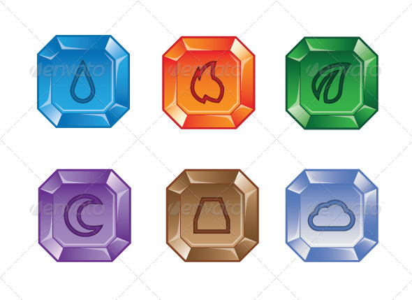 Elemental clipart web element Puzzle 2 of Elemental Vectors