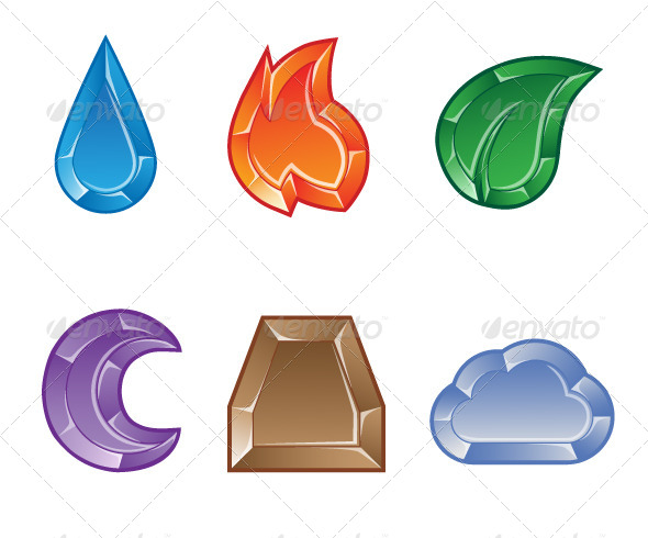 Elemental clipart web element Game Match of Elemental Set