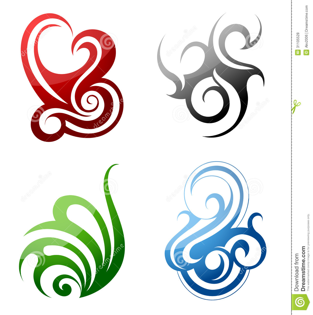 Elements clipart wind Earth fire designs and designs