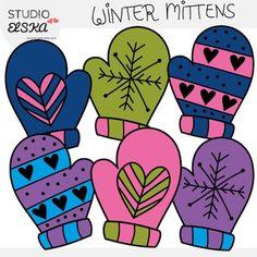 Elemental clipart winter Corazón Winter Mittens Winter Pay