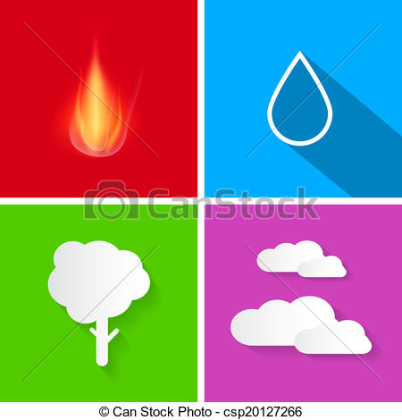 Elements clipart air Ground of Vectors water air
