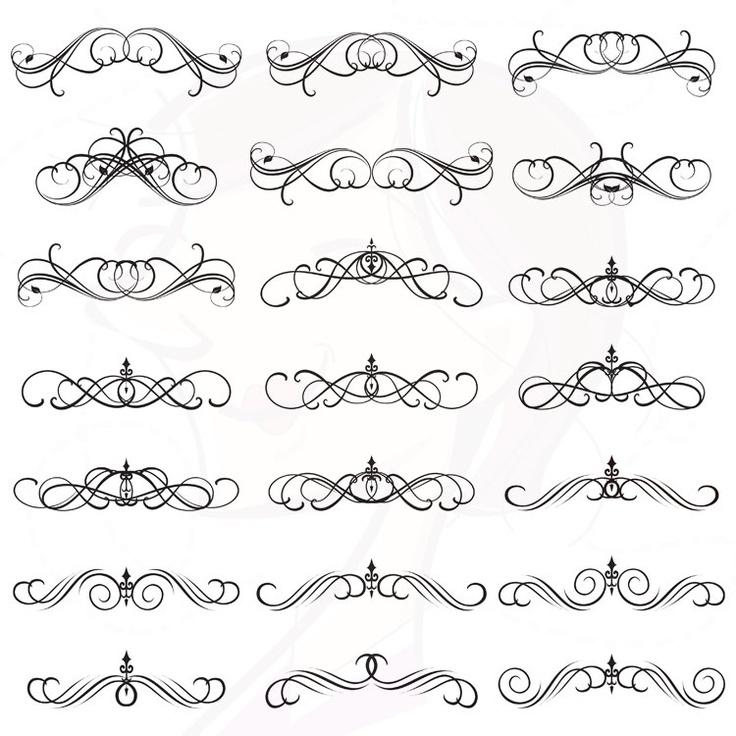 Elements clipart decorative Swirls Gothic best Doodles Pinterest