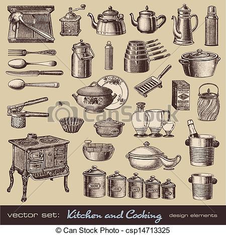 Elements clipart drawing Elements design csp14713325 Kitchen design