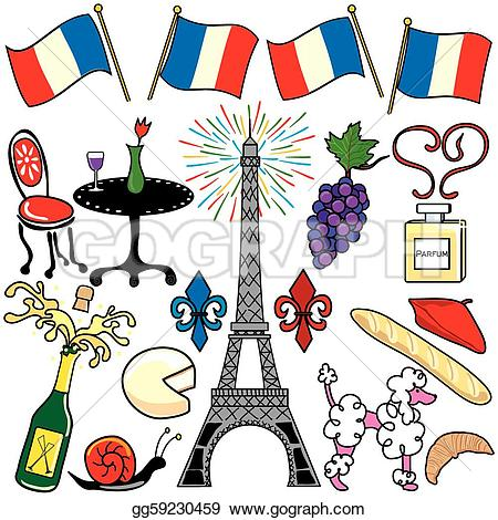 Elements clipart drawing France own tower Vector for