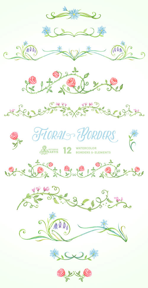 Elements clipart floral From on Hand OctopusArtis Borders
