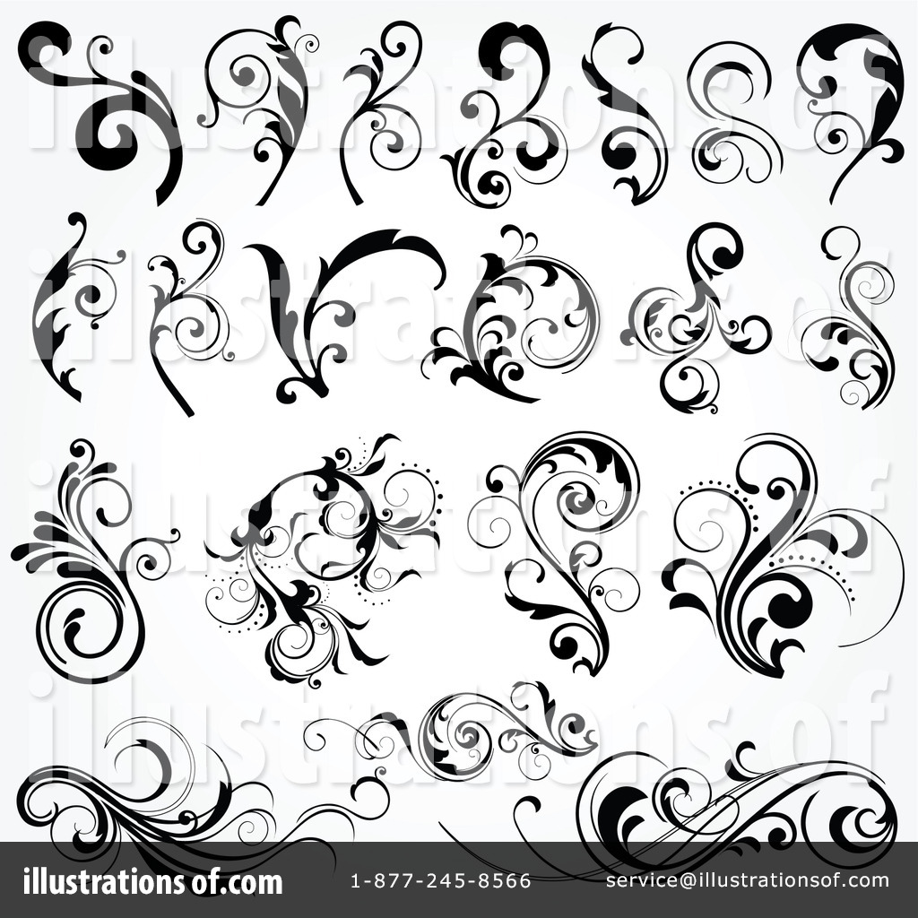 Elements clipart floral #21663 by Illustration Clipart (RF)