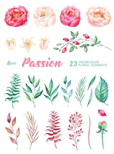 Elements clipart floral Imágenes Logotipos de 23 de