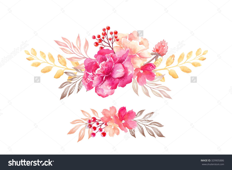Elements clipart floral Elements flowers Arrangements design arrangement