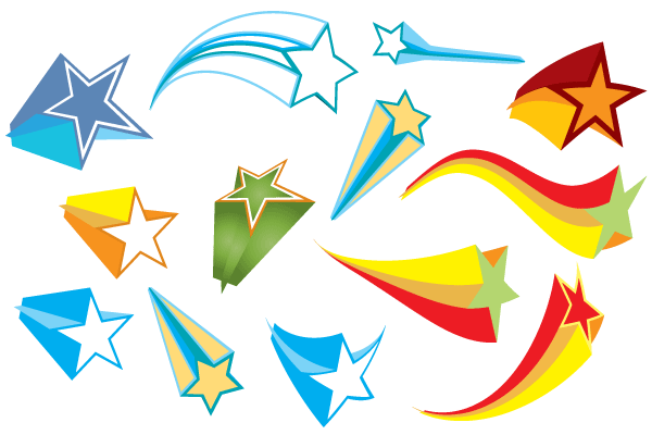 Elements clipart graphic Colorful Stars Free Stars Vector
