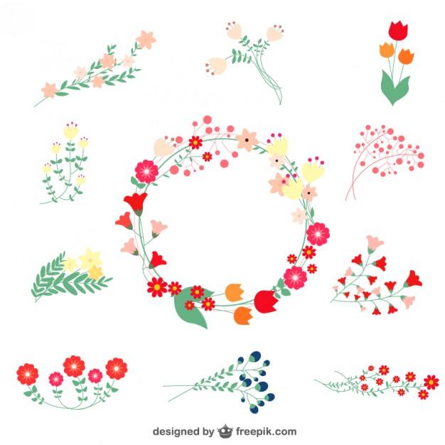 Elements clipart graphic  gráficos Vector Clip florais