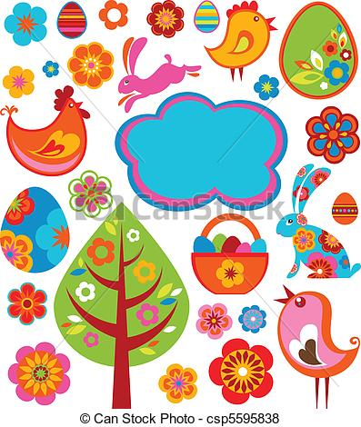 Elements clipart graphic Icons of icons graphic Easter