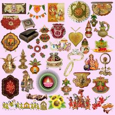 Elements clipart indian wedding PSD  Hindu Clipart designs