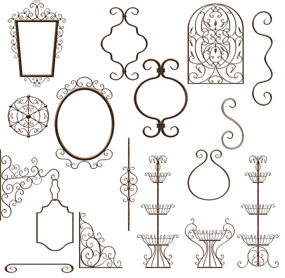 Elements clipart iron Romantic Elements Whimsical images 31