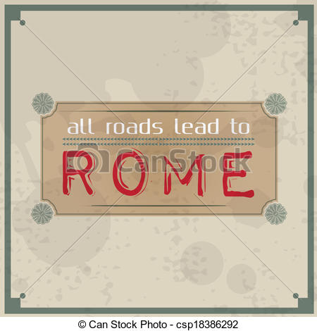 Elements clipart lead Roads to lead Typographic Retro