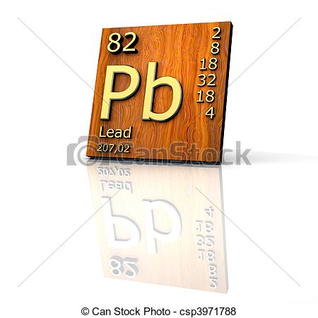 Elements clipart lead Form Periodic wood Illustration of