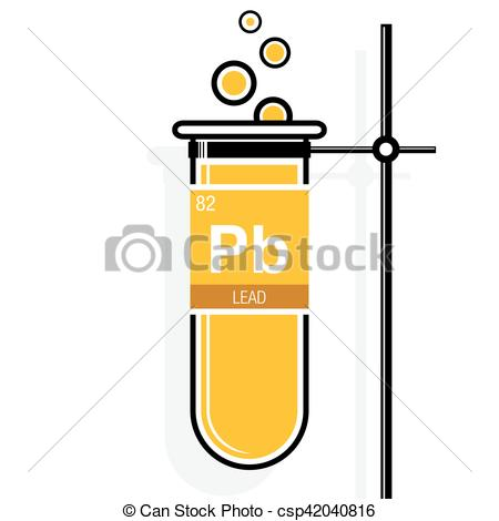Elements clipart lead Symbol test on on yellow
