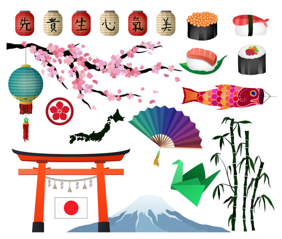 Elements clipart literature Japanese/Asian Japanese/Asian from 300 Studio