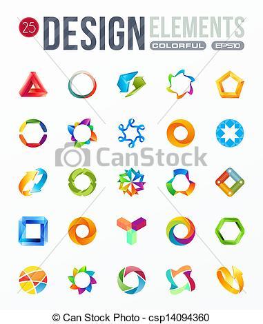 Elements clipart logo Of Art logo design Vector
