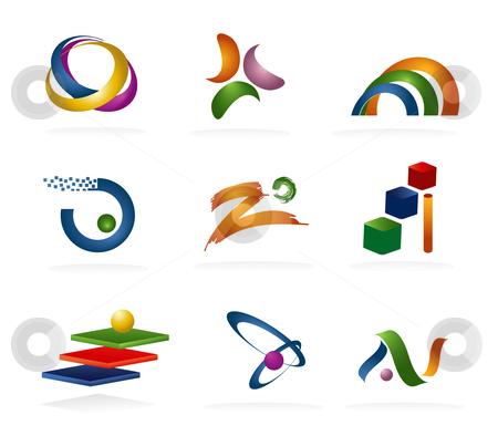 Elements clipart logo Vector 3D Logo 3D Elements