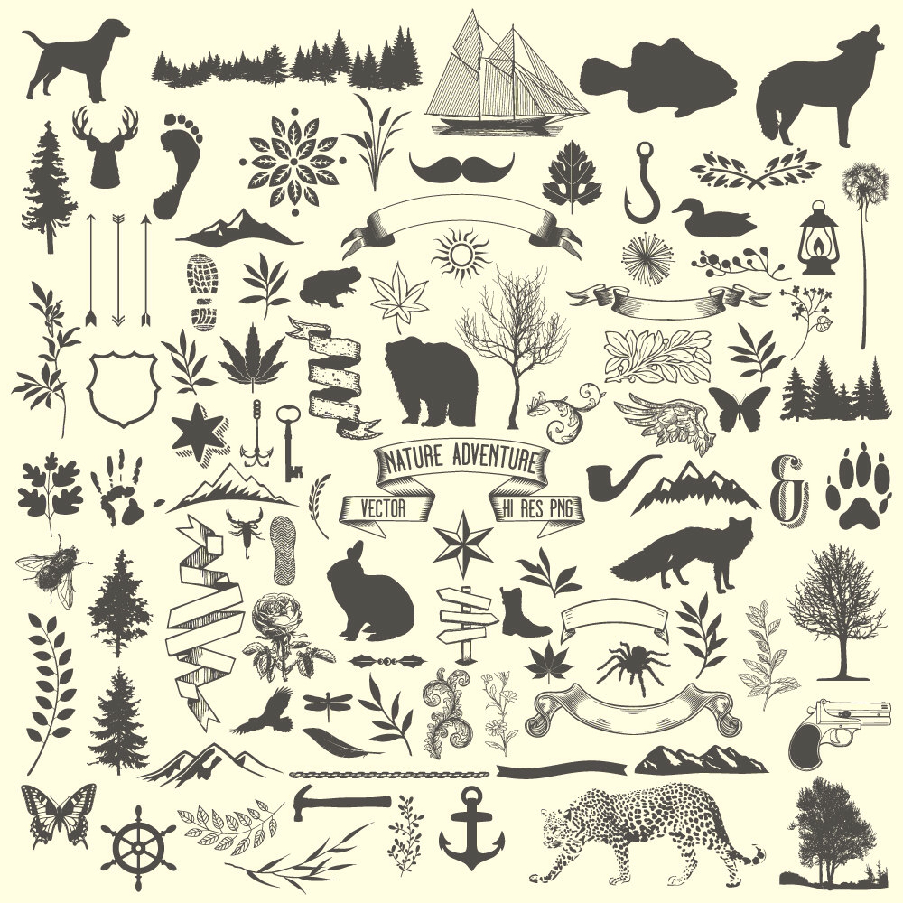Elements clipart nature Vector Clipart Download Nature Clipart