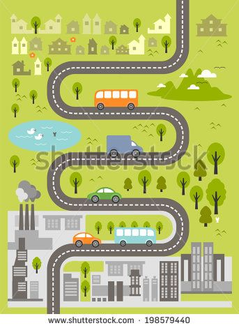 Roadway clipart road map Road Include: View about vector