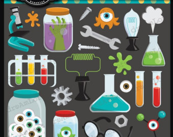 Laboratory clipart physical science Sheet Etsy clipart scrapbooking Elements
