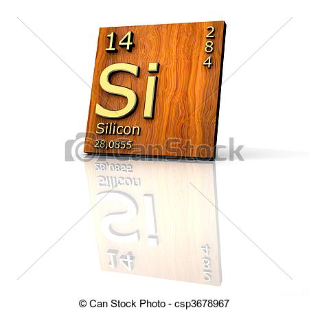 Elements clipart silicon Elements of Periodic Illustrations Stock