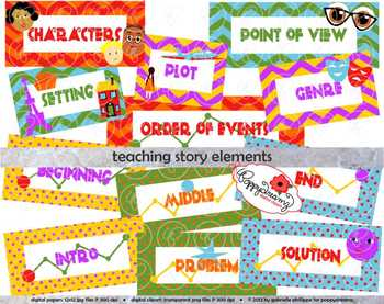 Elements clipart story By Teaching Elements Cli Poppydreamz