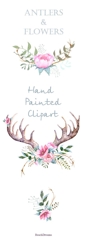 Elements clipart transparent Flowers horns png flowers Hand
