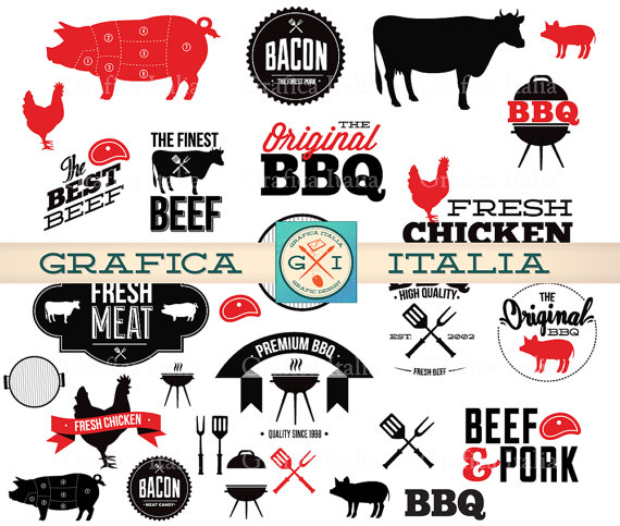 Barbecue clipart bbq chicken BBQ Clip Barbecue Digital from