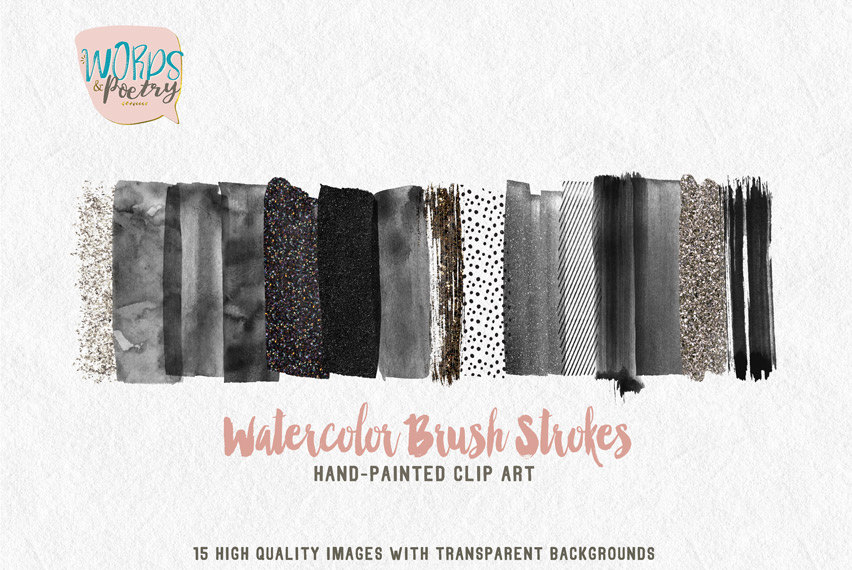 Elements clipart web element Painted Brush Clip watercolor Clipart