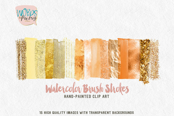 Elements clipart web element Clip on Brush watercolor web