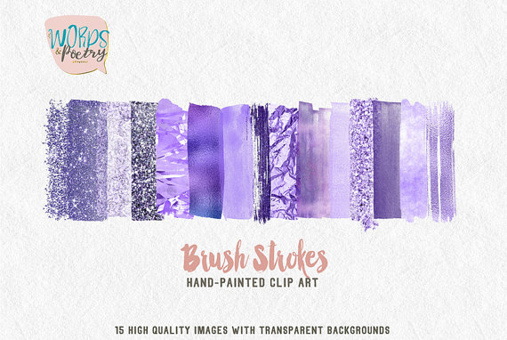 Elements clipart web element Art watercolor Strokes Purple Clipart