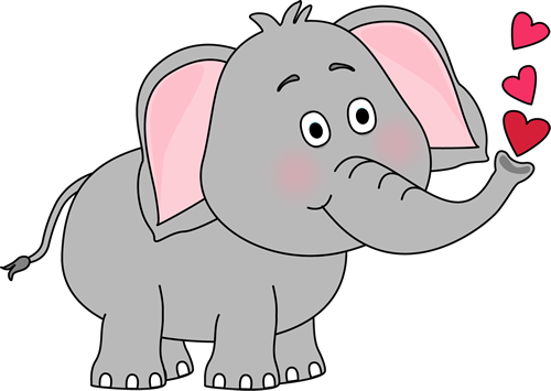 Elephant clipart Elephant Clip Blowing Hearts Images