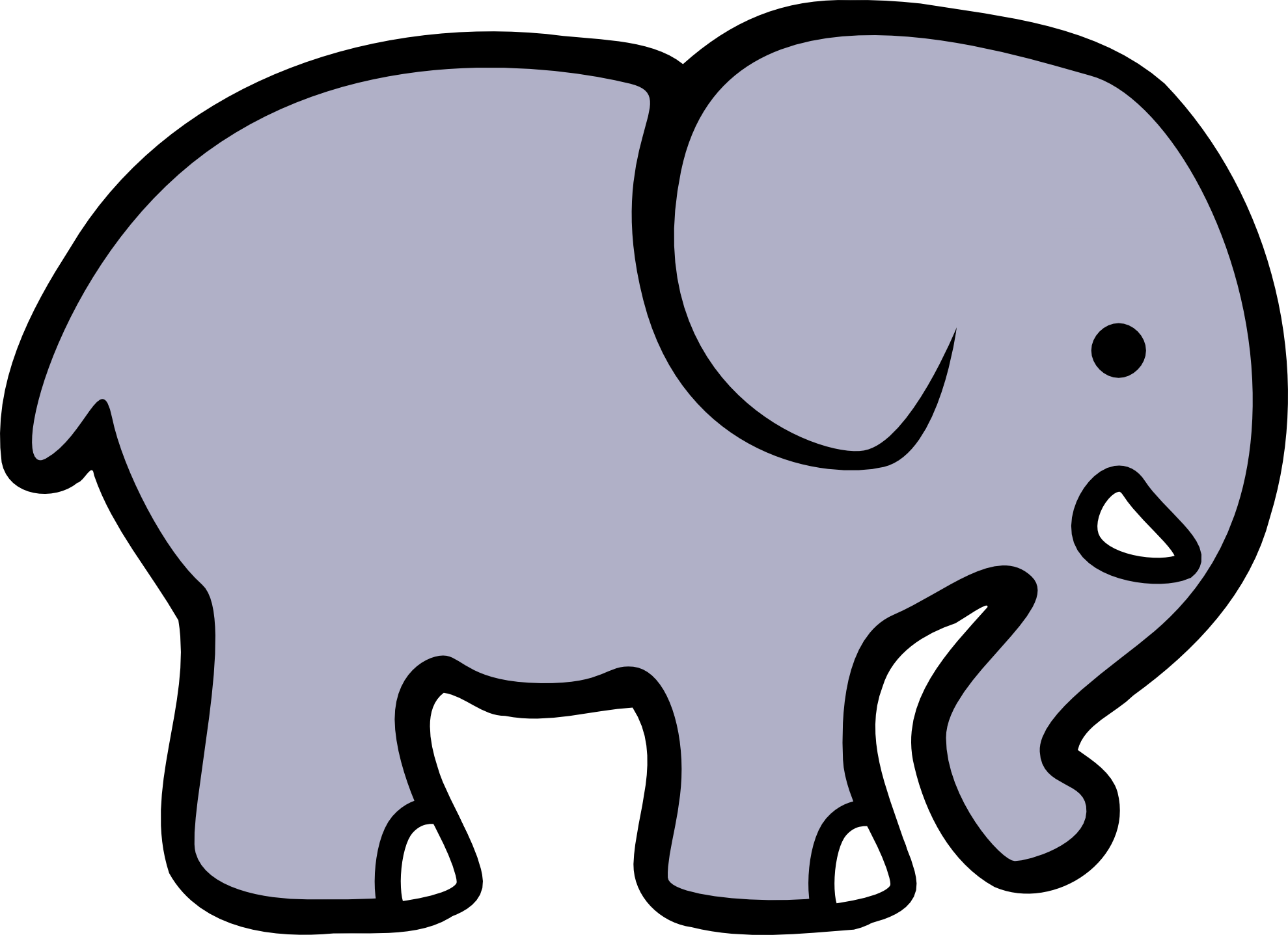 Elephant clipart Art Black Elephant Clip Free