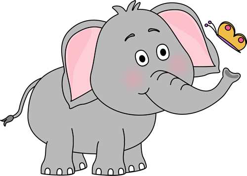 Animal clipart elephant Art Elephant Elephant Butterfly Images
