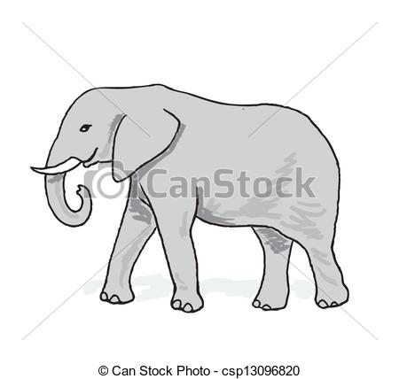 Asian Elephant clipart african elephant Elephant  Vector csp13096820 of