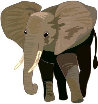 Asian Elephant clipart african elephant Art clip  Elephant