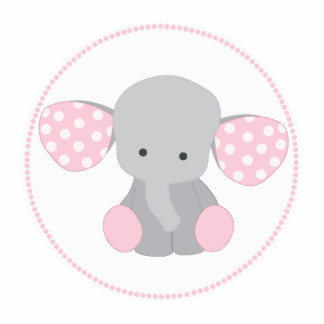 Pink clipart baby elephant Photo girl Cutouts Baby Pink